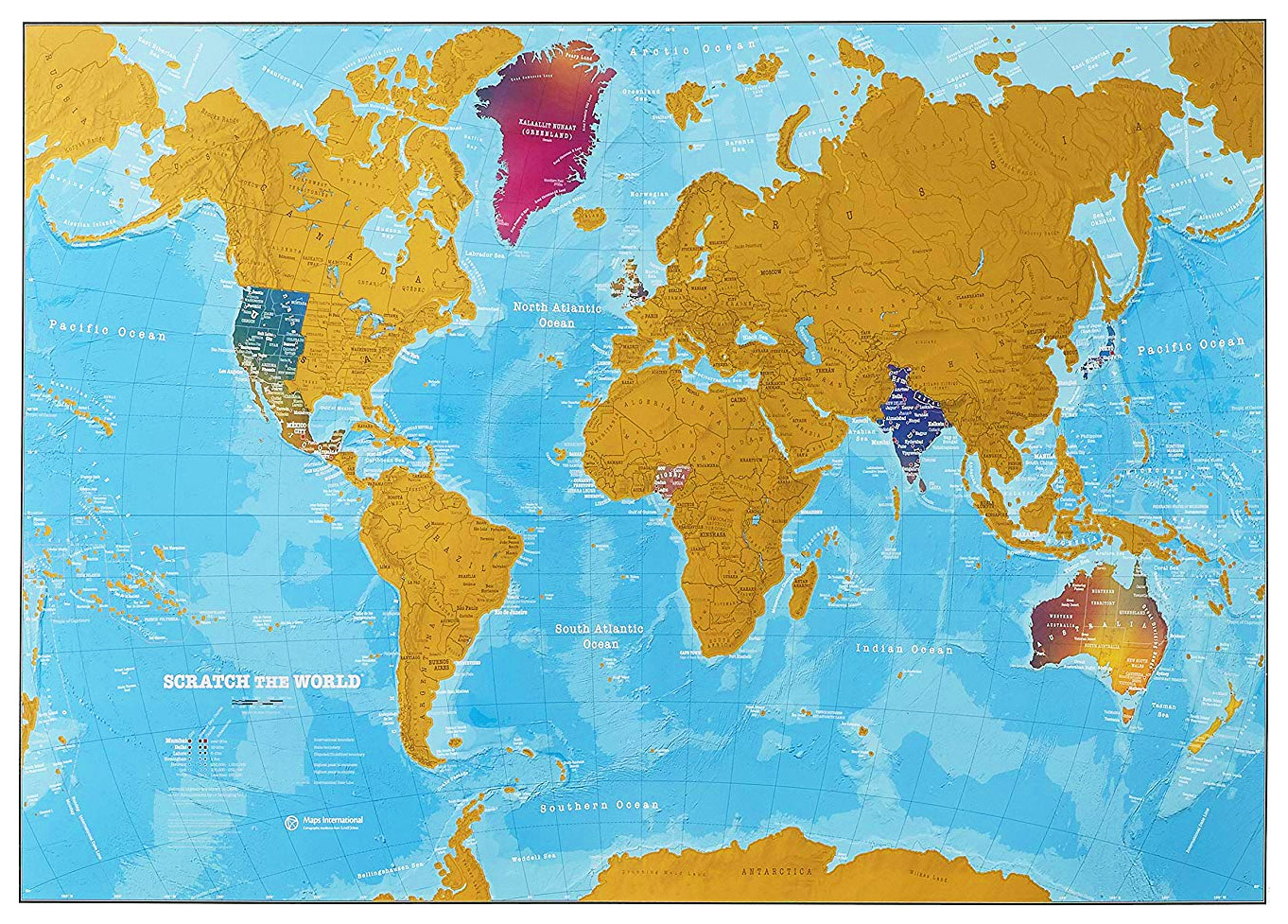 Picture of: Buy Scratch The World Map Watercolour Edition By Maps International
