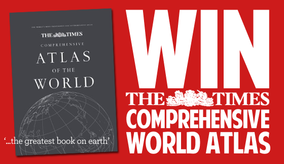 Win the GREATEST BOOK on EARTH - The Times World Atlas