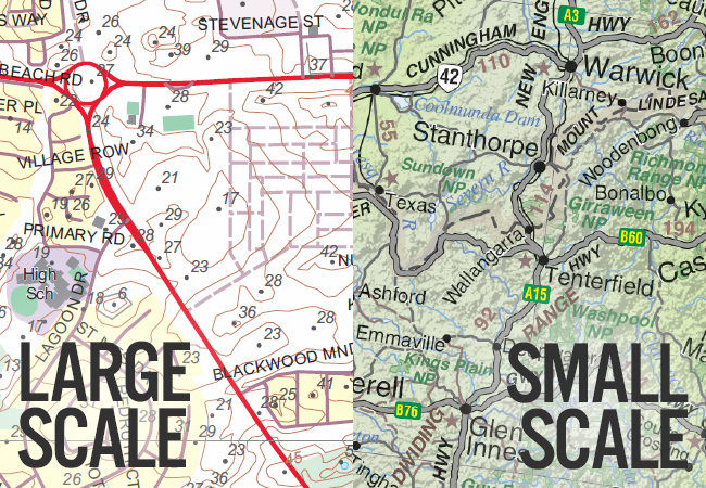 Large Scale vs. Small Scale Maps - What? - The Chart & Map Shop