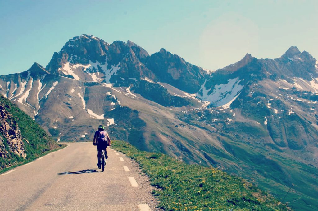 Cycling through the french alps