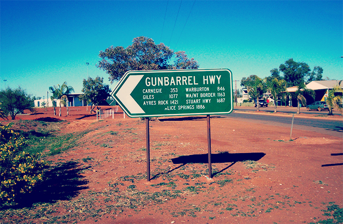 Gunbarrel Highway street sign