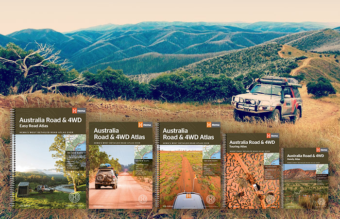 New 12th Edition Hema Australia Road & 4WD Atlases