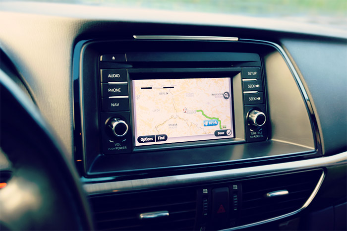 In car GPS built in system